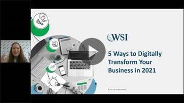 Webinar: 5 Maneiras de Transformar seu Negócio no Digital em 2021